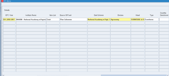 Creating EFC Listing 2