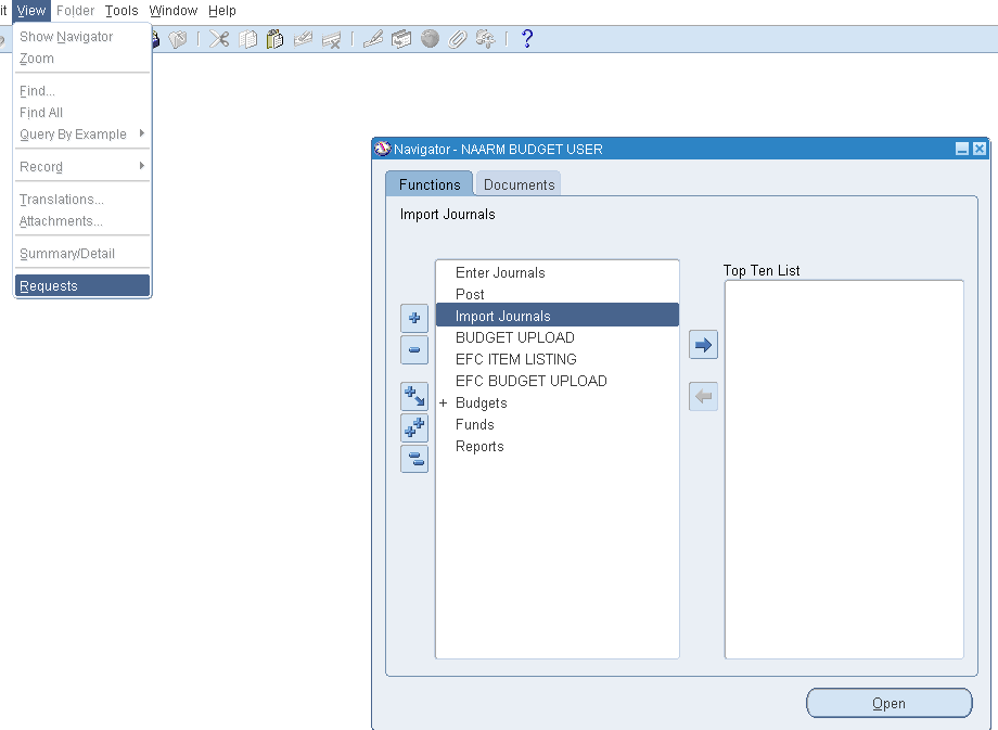 Running the request to see whether import is done or not